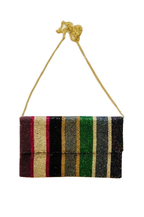 Beaded Multi Coloured Clutch