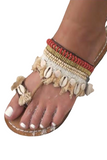 Sandals with Beading and Sea Shells