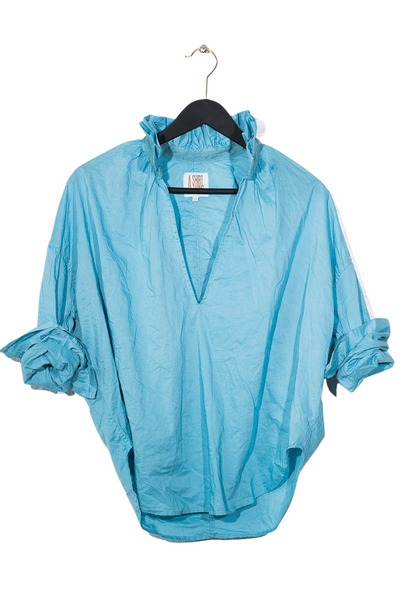 A Shirt Thing, Penelope Ruffle Shirt - Fountain