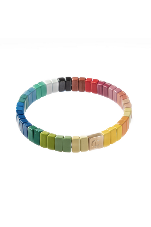 C.L., Colorburst Tile Bracelet