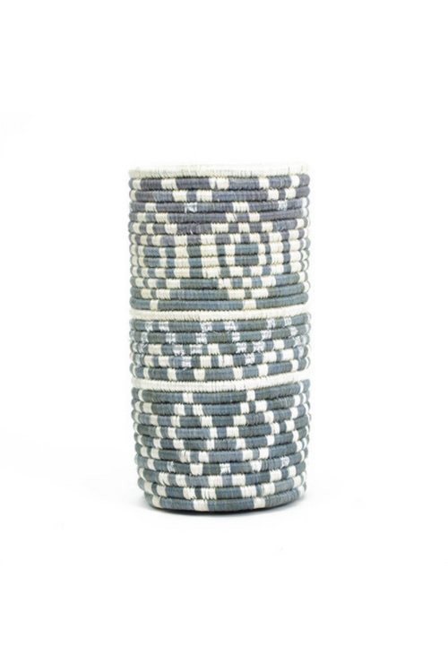 Vase, Metallic & Mirage Gray Diyama