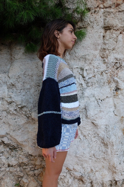 Multi Striped Sweater, Nina Leuca