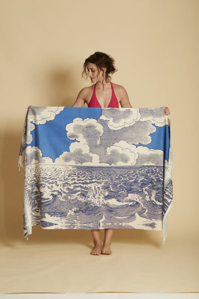 Inouitoosh, Fouta Oceanique Navy Towel