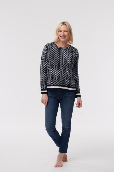 Fisherman 12G Ribbed Crew Sweater