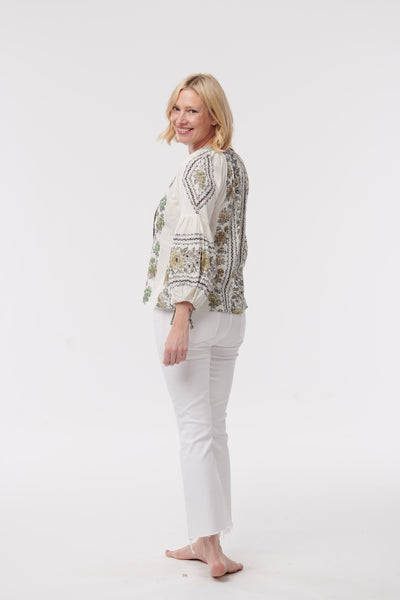 D'Ascoli Flamenco Top with Embroidery