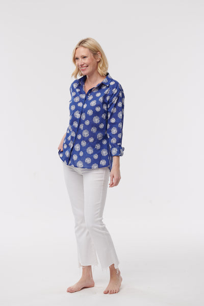 Button Down Shirt with Dandelion Burst