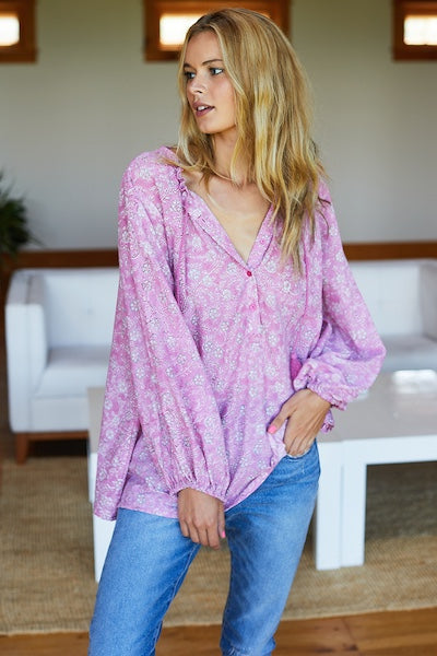 Emerson Fry Bardot Top - Crocus