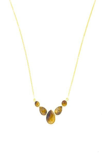 Jaipur Tiger Eye Gemstone Necklace