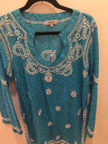 Embroidered Keyhole Tunic
