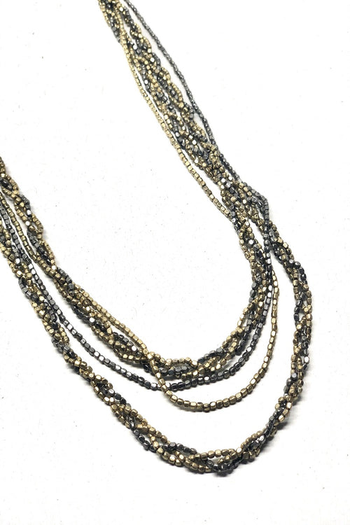 Brass Multi-strand necklace