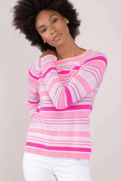 Hot Pink Stripe Pullover