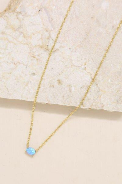 Keepsake Kyocera Blue Opal Necklace