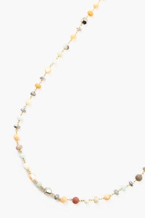 Chan Luu - Matte Multi Amzonite Mix Layering Necklace
