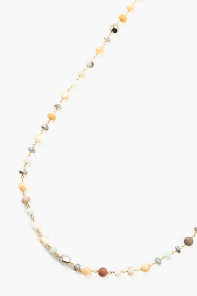 Chan Luu Matte Multi Amzonite Mix Layering Necklace
