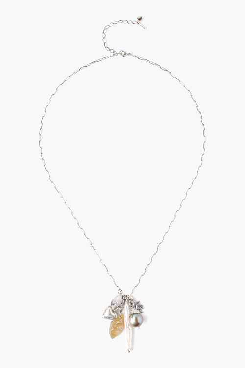 Chan Luu - White Horn Mix Necklace 2019