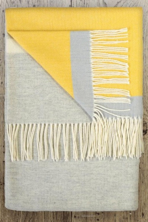 TWIG - Sulphur Lambswool Throw