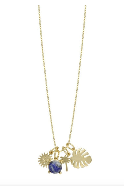 Tropical Getaway Charm Necklace