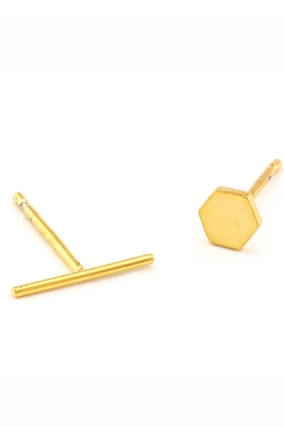 Hex and Stick Earrings