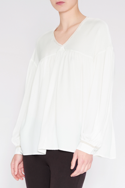 0039 Italy, Chrisette  Blouse, white