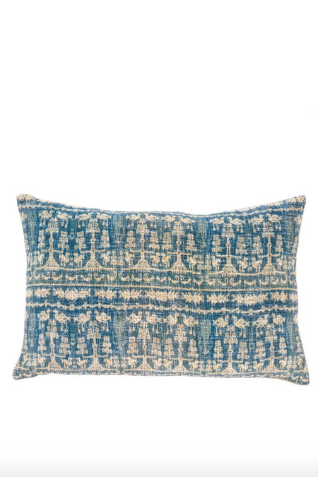 Indigo Iris Pillow