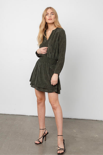 Jasmine Dress - Olive Speckled