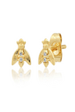 Tai, Bee Stud with CZ Accent Earrings