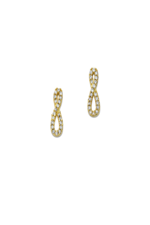 Tai, Infinity Gold Stud Earrings