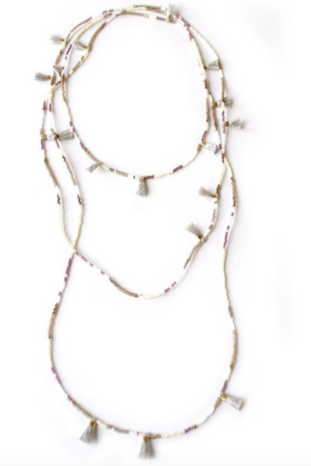 Bone Crescent Necklace
