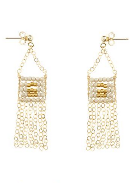 Extra small Pendant Earring with chain Tassel