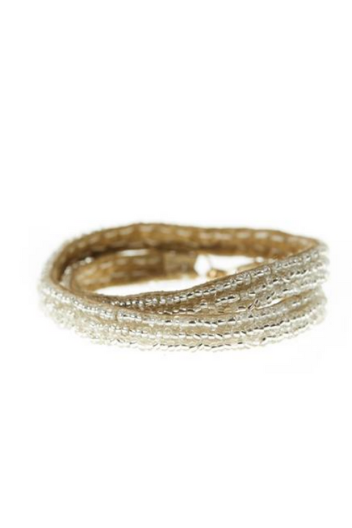 Sidai Simple Double Wrap Bracelet - Silver