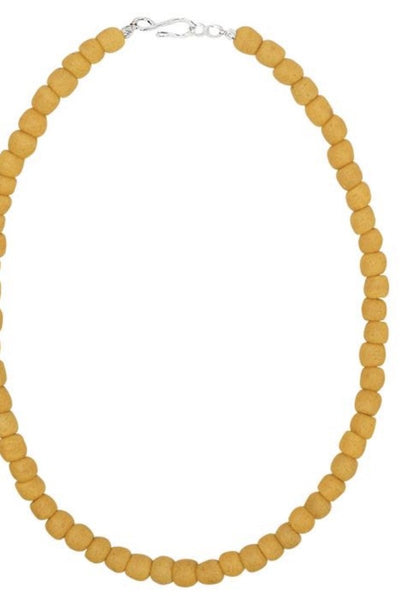 Glass Pearl Necklace - 18 in
