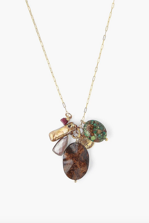 Chan Luu - Bronzite Mix Charm Necklace