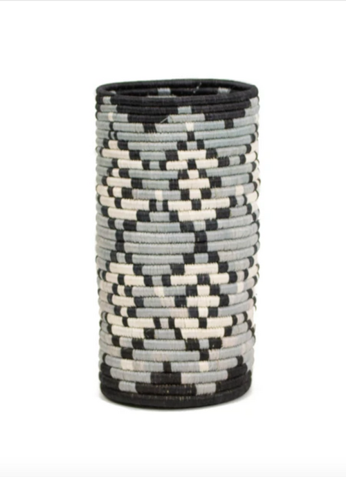 Vase -  Tofali, Black & Grey