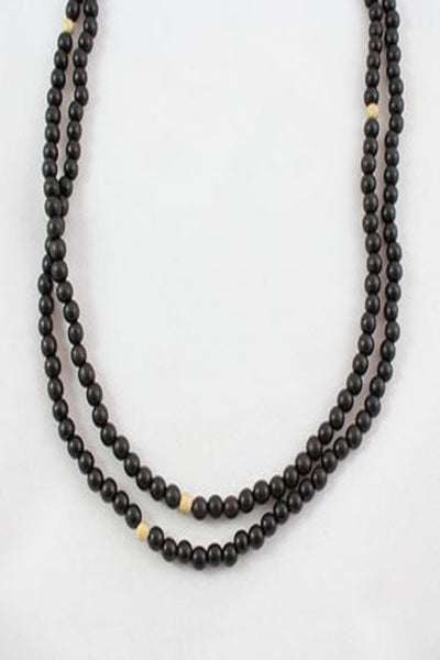 Wood Bead Extra Long Necklace