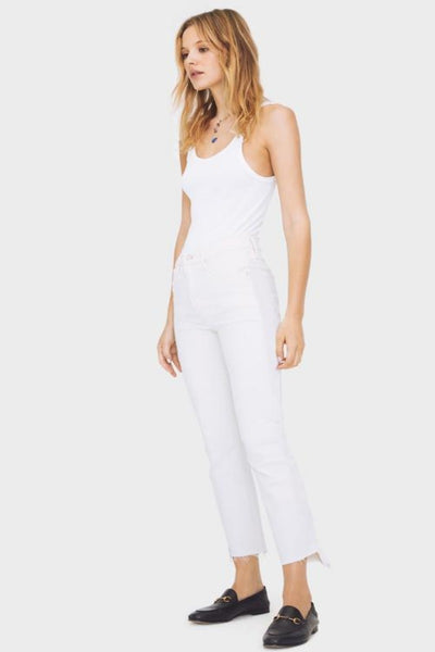 MOTHER Jeans -The Insider Crop Step Fray- Glass Slipper