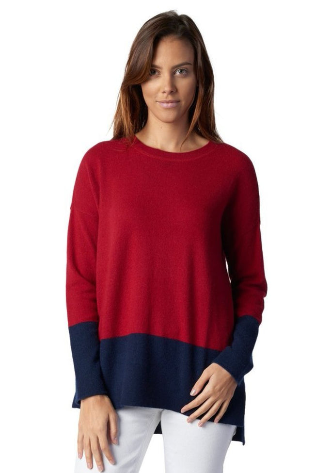 Boyfriend Sweater - Colour Block Crew