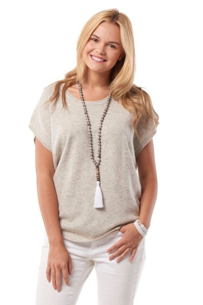 Cashmere Sleeveless Tee