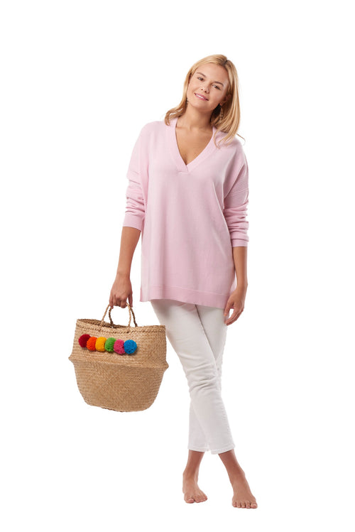 Cashmere Perfectly Pink V-Neck