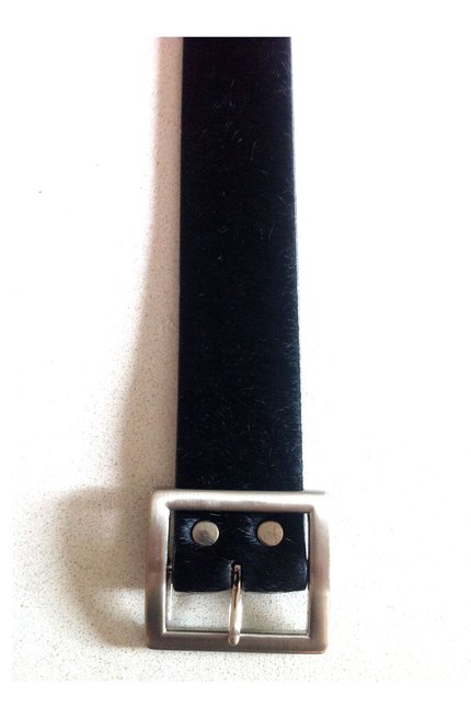 Black Cow Hide Belt