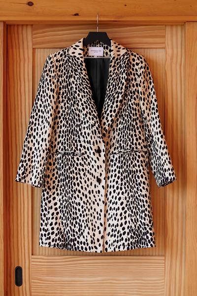 Wingtip Coat Leopard