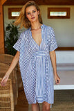 Emerson Short Caftan - Organic Stripe