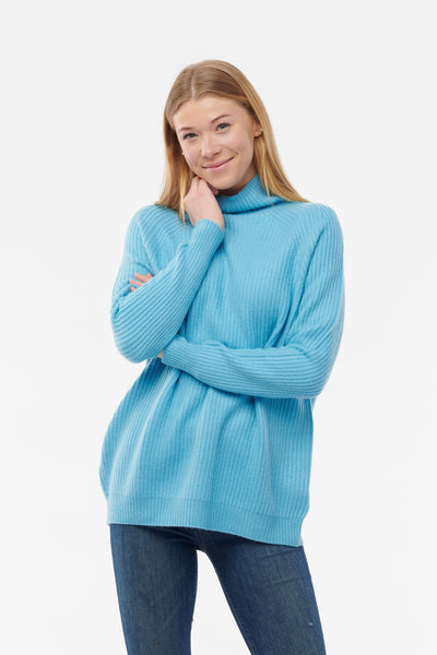 Cashmere Funnel Neck Sweater - NEW!