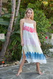 Stark, Low Back Tie Dye Cami Dress