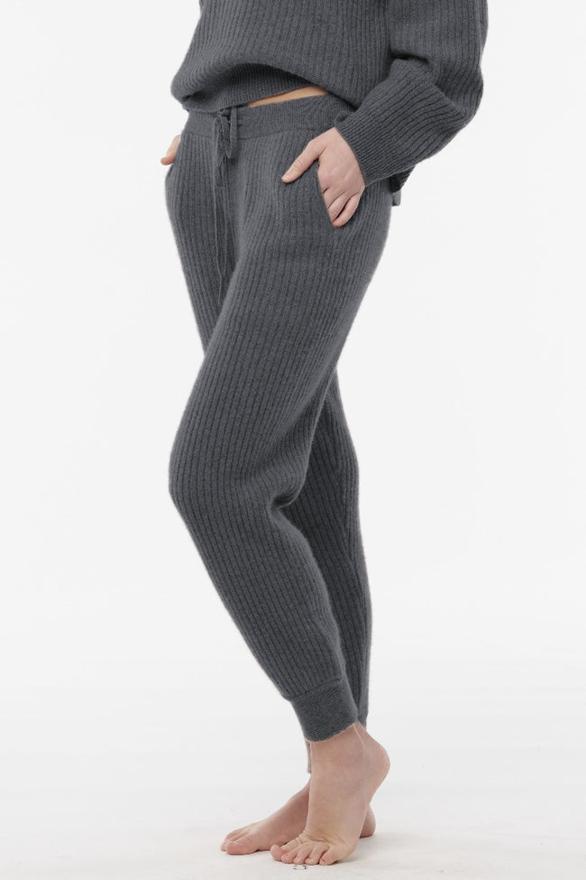 Cashmere Ribbed Lounge Joggers
