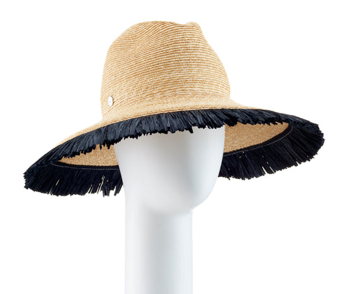 Tracy Watts Postiano  Large Fedora Hat - Black