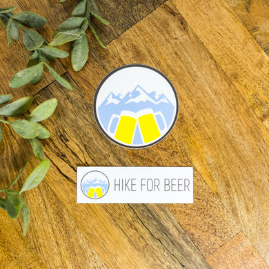 HikeForBeer Stickers