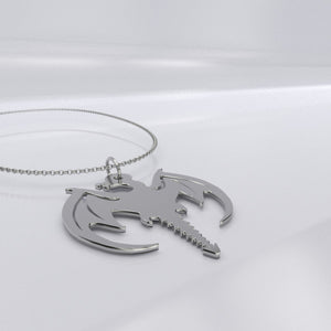 If you love Dragons and Sterling Silver then you've come to just the place! This beautiful elegant Sterling Silver Fire Dragon Pendant Necklace is made especially for you. A great reminder fo the Fire within!