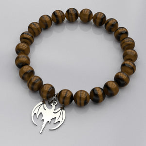 Can't get enough of Dragons? Well, now you can also wear it on your wrist with the bead bracelet. You can choose between Tiger's eye for that fiery passion within or Amethyst for the spiritual connection with your Dragon. Makes for a great Mother's day gift, Father's day gift, also great for other occasions such as Birthdays, Valentine's or Christmas.You will receive your order within 5-8 business days.