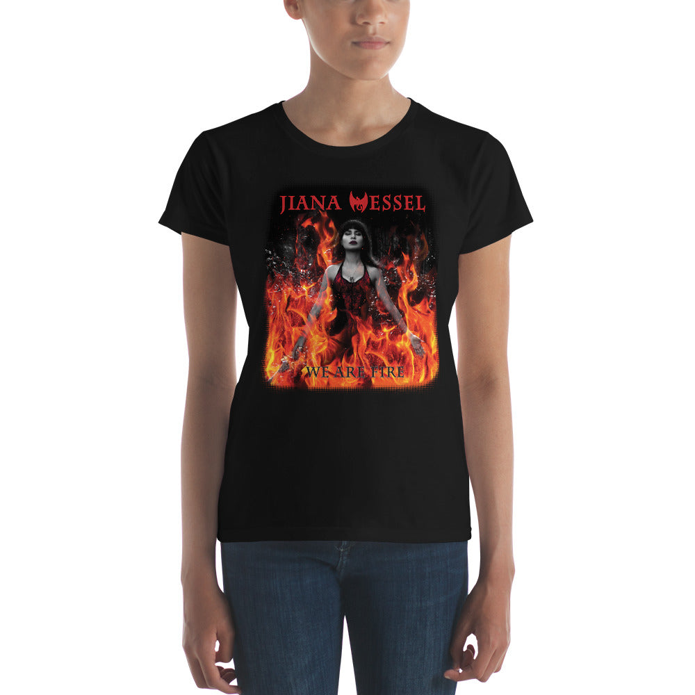 We are fire! Women's short sleeve shirt