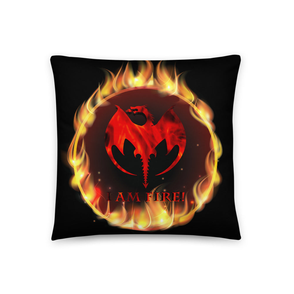 I AM Fire! Square 18 X 18 Pillow
